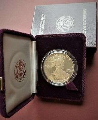1987-S Silver American Eagle Proof 1 oz US Mint Coin with Box and COA