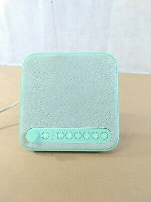 i24 Wave Baby Noise Machine Teal With Timer Heartbeat Waves Rain USB Charger