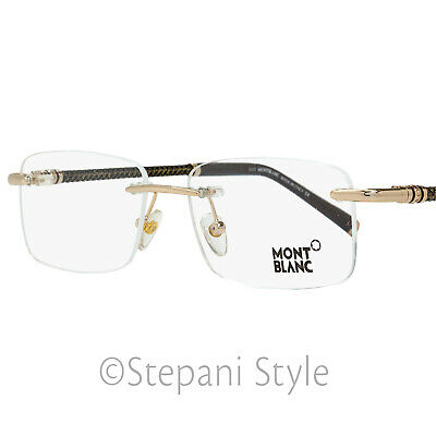 Montblanc Rimless Eyeglasses MB391 028 Size: 55mm Rose Gold/Brown 391