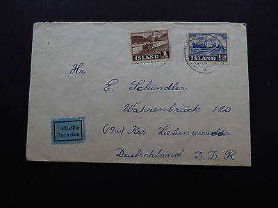 Cover Avion Island Iceland Fishing Farming Siglufjörður to DDR Deutschland