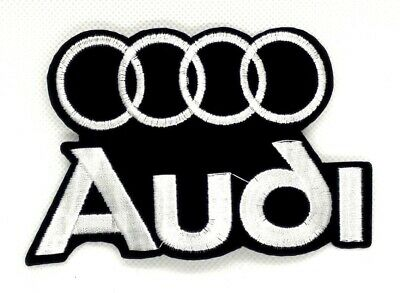 new Audi Logo Emblem Embroidered sew or Iron On Patch 372