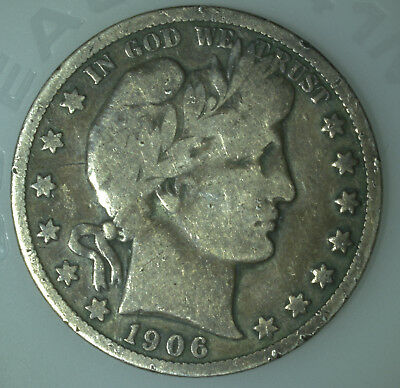 1906 S United States Barber Half Dollar 50 cent Nice Condition