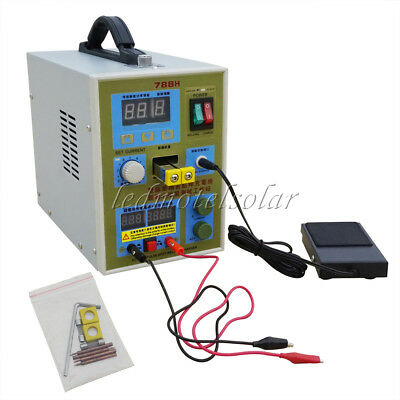 788H LED Dual Pulse Spot Welder 18650 Battery Charger 800A 0.1-0.2mm 36V 60A