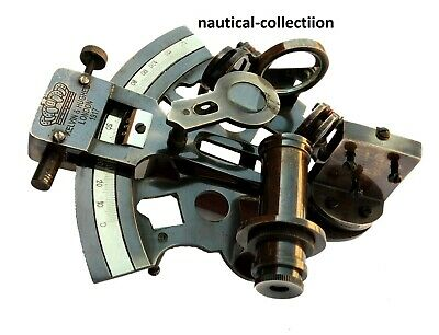Antique Brass 4'' Sextant Nautical Navy Ship Marine Working Sextant