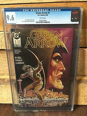 Green Arrow #1 Cgc 9.6 Nm+ 2Nd Series Mike Grell Cover  White Pages