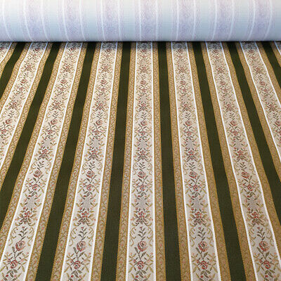 Inadam Products Green Regency Stripe Fabric, Material, for Upholstery