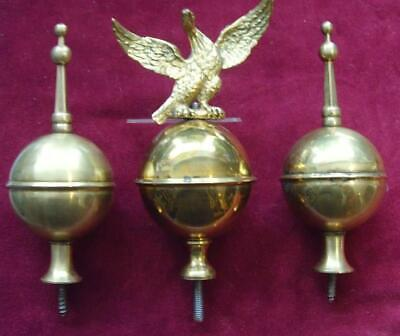 13/4/19 Set#2: Three  Long case clock brass finial  square spire old stock