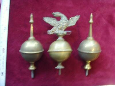 13/4/19 Set#4: Three  Long case clock brass finial  round spire old stock