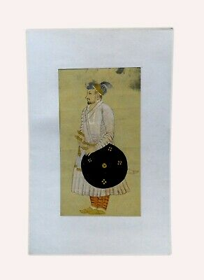Royal Mughal Emperor Islamic Miniature Painting Old Rare Collectible. i55-21 US