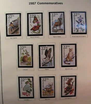 US Old Album Page Stamp Scott# 2286-2335  Wildlife 1987  MNH C474