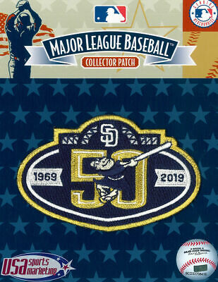 San Diego Padres 50th Anniversary Official MLB Logo Jersey Sleeve Patch