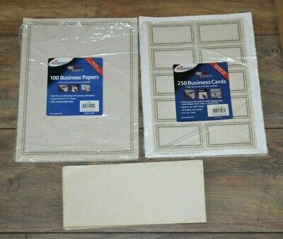 PC papers By Ampad Print Your Own Business Cards Matching Paper & Envelopes