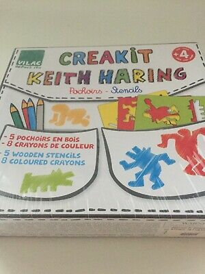 Keith Haring Foundation Vilac 2012 CREAKIT STENCILS SEALED Wood Box - rar -