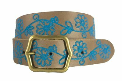 Noble Outfitters 29516-130 Womens Frontier Floral Leather Belt FREE USA SHIP