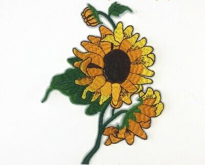 sunflower iron on patch embroidered clothes clothing garment apparel 393