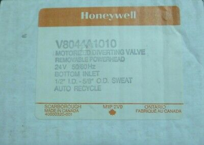 Honeywell V8044A1010 Motorized Diverting Valve Removable Powerhead