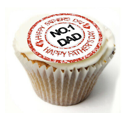Cupcake Toppers fathers day personalised Rice paper Icing Sheets 824