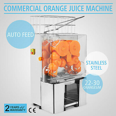 Electric Commercial Orange Juicer Squeezer Juice Machine Citrus Lemon Free Ship