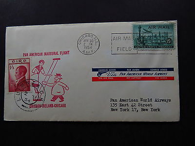 FFC CVR United States Postage Pan American Inaugural Flight Chicago Ireland '54