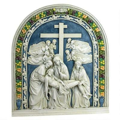 Design Toscano Descent from the Cross by Della Robbia Wall Sculpture
