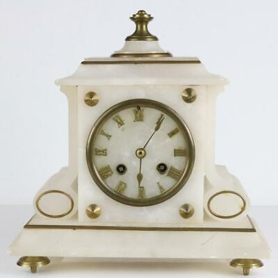 ANTIQUE FRENCH MANTEL CLOCK by JAPY FRERES good working order BELL STRIKING