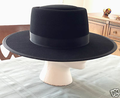 Men's Authentic Amish Black Felt Hat made in Lancaster County, PA