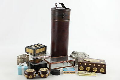 14 x Assorted Vintage TRINKET / PILL BOXES Inc. TIFFANY & CO, Wood, Silver Plate