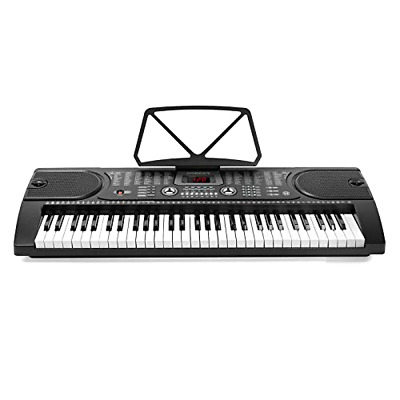 Hamzer 61-Key Portable Electronic Keyboard Piano with Stand, Stool, Headphones