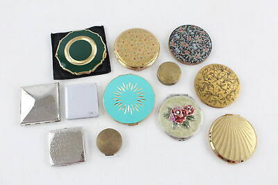 12 x Vintage Ladies Powder Compacts, Mirrors & Rouges Inc. STRATTON