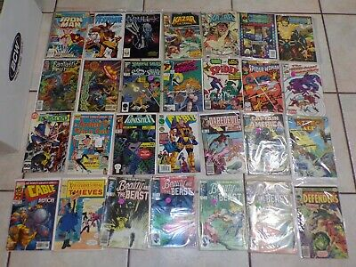Lot of 28 Comic Books Iron Man Wolverine Beauty and the Beast Defenders Krull M