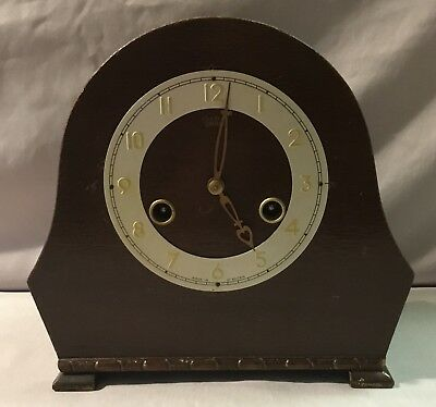 Smiths Enfield Wooden Mantel Clock - Great Britain - Enfield Clock Company