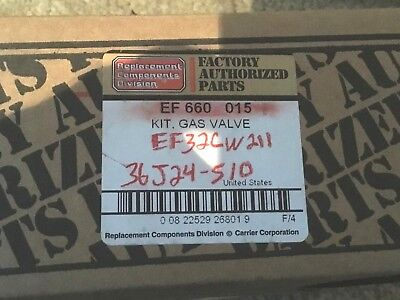 CARRIER FURNACE GAS Valve Kit EF 660 015 White Rodgers