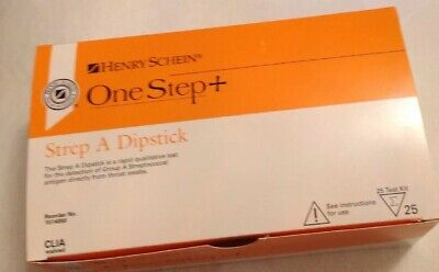 Henry Schein One Step+ Strep A Dipstick for Group A Streptococcus