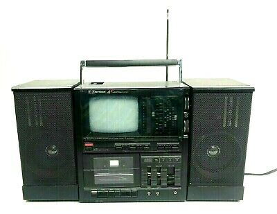Emerson XLC 558 TV Boombox Cassette Player Radio Partially Working For Parts