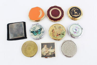 10 x Assorted Vintage Ladies Powder Compacts / Mirrors Inc. STRATTON