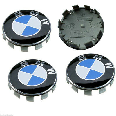 4 x 68mm Alloy Centre Wheel Cover Caps Rim Badge Hub Logo Emblem for BMW
