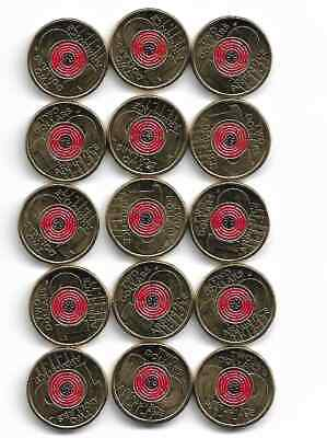Australian 2018 2 Dollar Coin Remberance Day Armistice Red Poppy