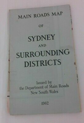Main road maps of Sydney & surrouding Districts double sided 1962