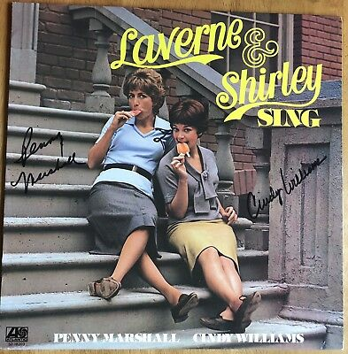 """Penny Marshall & Cindy Williams Autograph Album (LP) """"Laverne & Shirley Sing"""""""