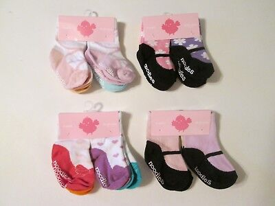 Trumpette Noodles 12-24 Months Girls Baby Toddler Non Skid Socks~4 Pairs