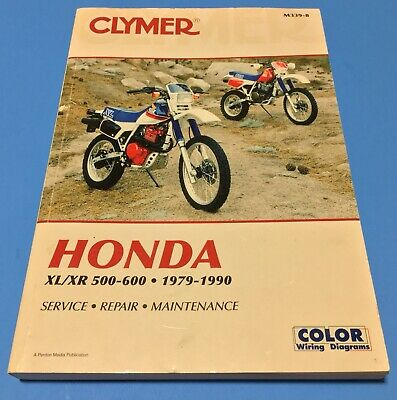 clymer honda xl / xr 500-600 motorcycles 1979-1990 service repair manual (