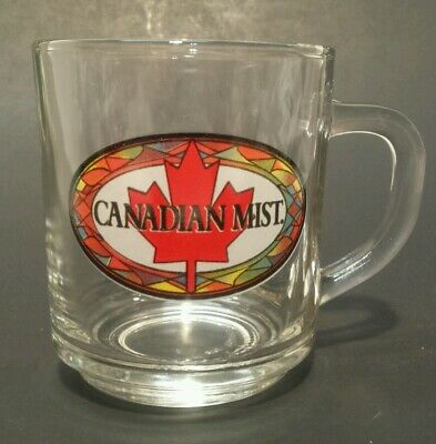 Canadian Mist Clear Glass Coffee Cup Mug Whiskey **