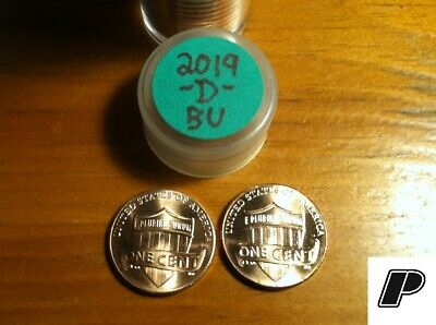 TWO (2 Total Coins) 2019-D Lincoln Shield Cents Penny BU - Denver ONLY ~FREE S&H