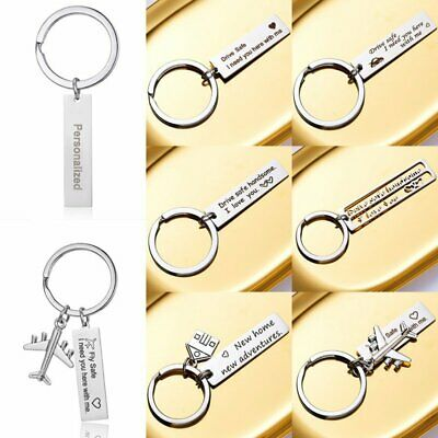 Fashion Stainless Steel Drive Safe Keyring Personalized Name Keychain Key Chain
