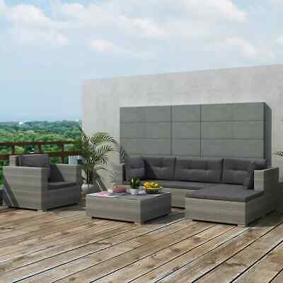 17 Pcs Outdoor Sectional Sofa Set Patio Wicker Rattan Couch w/ Ottoman & Table