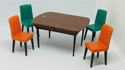 Vintage Mid Century Modern Dollhouse Miniature Furniture Kitchen Table Credenza