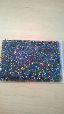 1.5-2mm  Glass Seed Beads - Mixed C aprox 2,000 pcs (50g) FREE POST- AUS SELLER