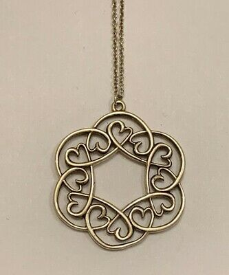 """fed4cb79a Tiffany & Co Sterling Paloma Picasso Loving Heart Swirl Medallion 16""""  Necklace"""