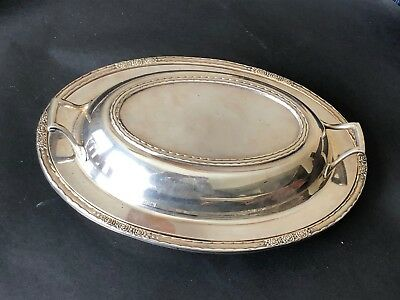 International Silver Co Silver Plate Serving Covered Bowl & Lid Camille 6012