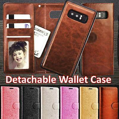 Genuine Leather Magnetic Flip Wallet Case Cover For Samsung Galaxy J3 J5 S8 S10